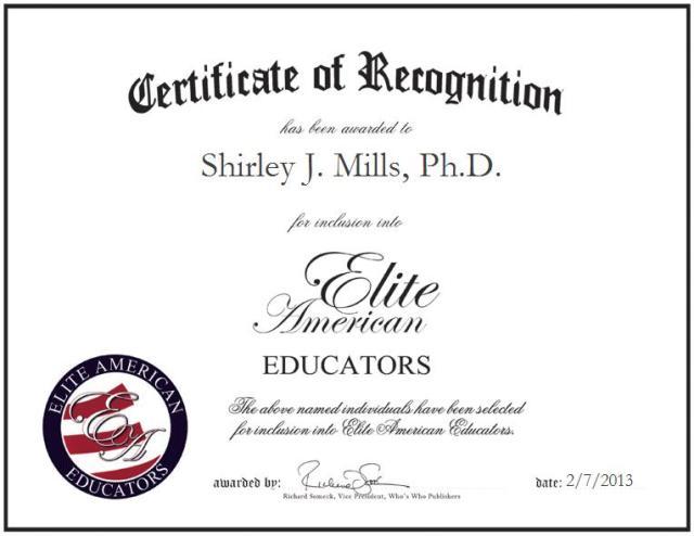 Shriley J. Mills, Ph.D.