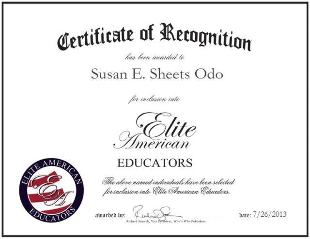 Susan E. Sheets Odo
