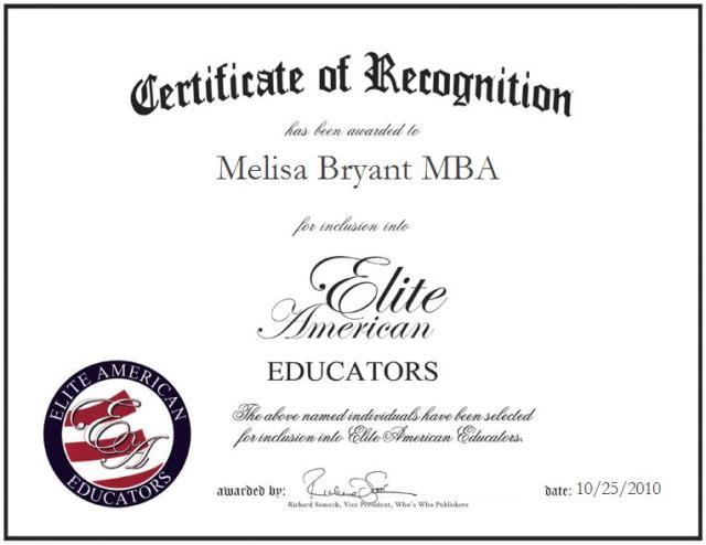 Melisa Bryant MBA