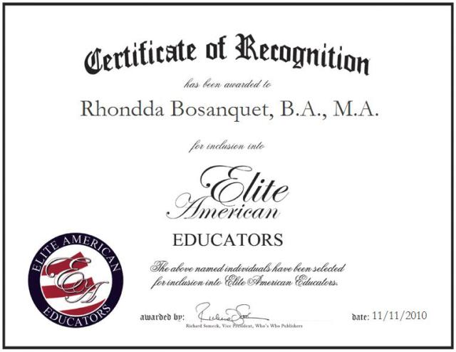Rhondda Bosanquet B.A. M.A.