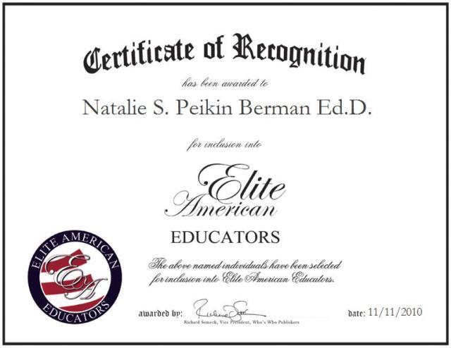 Natalie S. Peikin Berman Ed.D.